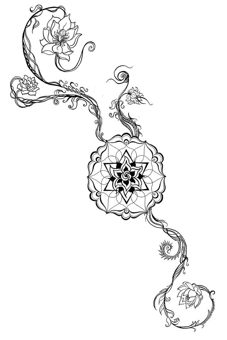 Moderno Flor De Loto Mandala Ilustración - Ideas Para Colorear ...