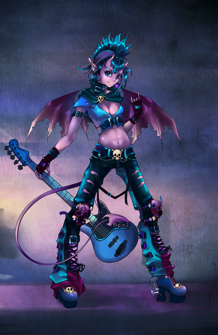 Sumire punk by Hell-Alka