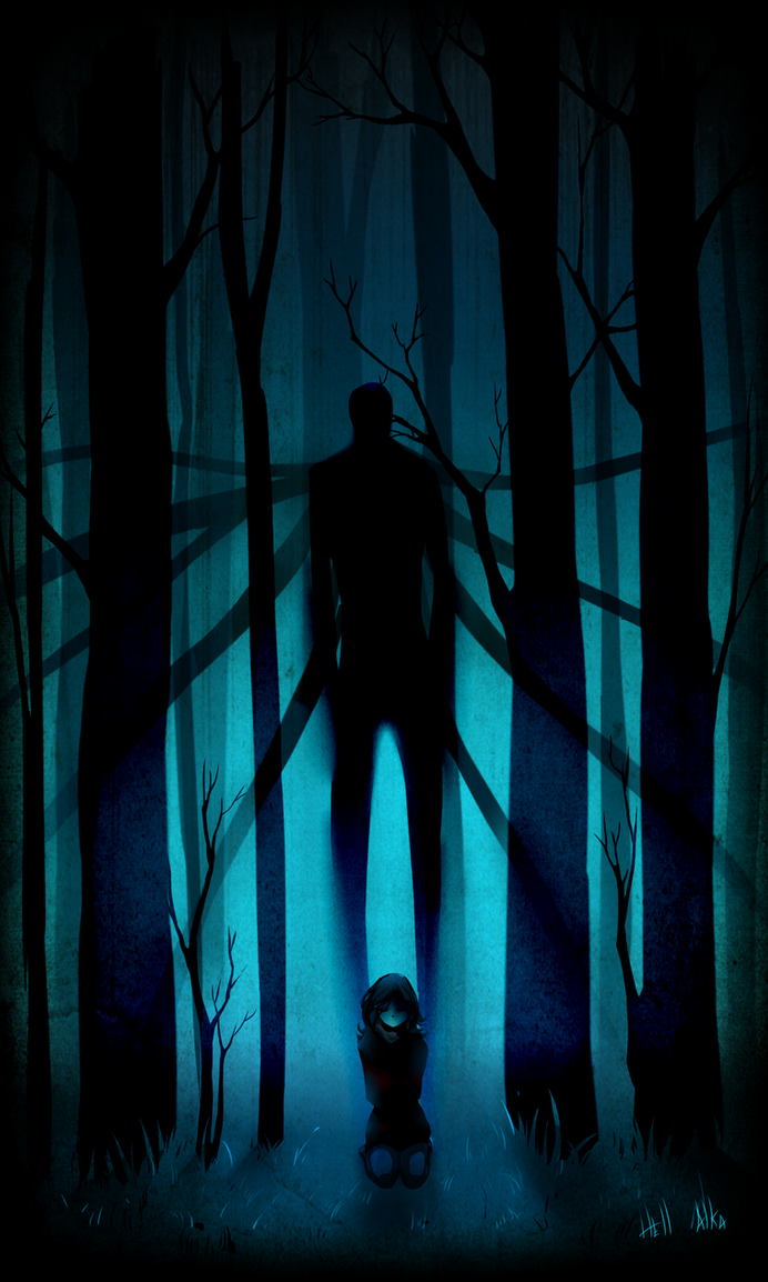 Slender man and Bella Fox by Hell-Alka