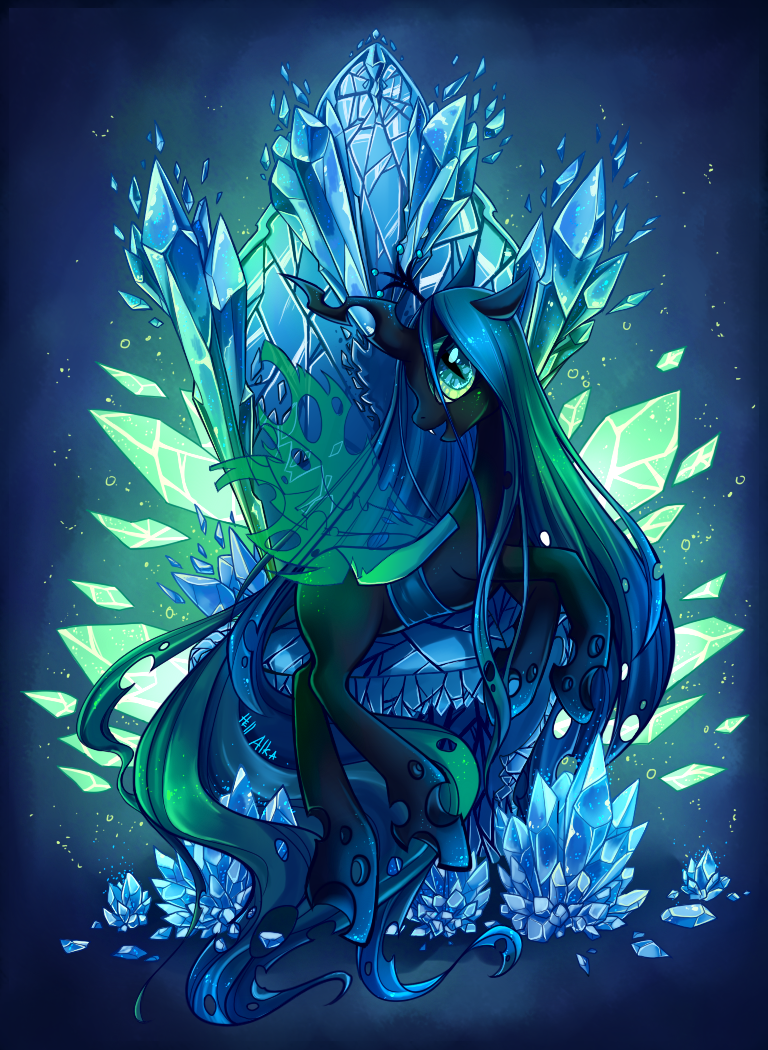 Queen chrysalis by hell alka on deviantart for Queen chrysalis coloring pages