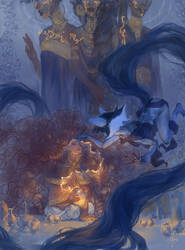 Contest: Drawing in the night by Hell-Alka