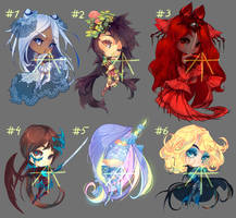 [21] [CLOSED] Auction - mix chibi adopts! by Hell-Alka