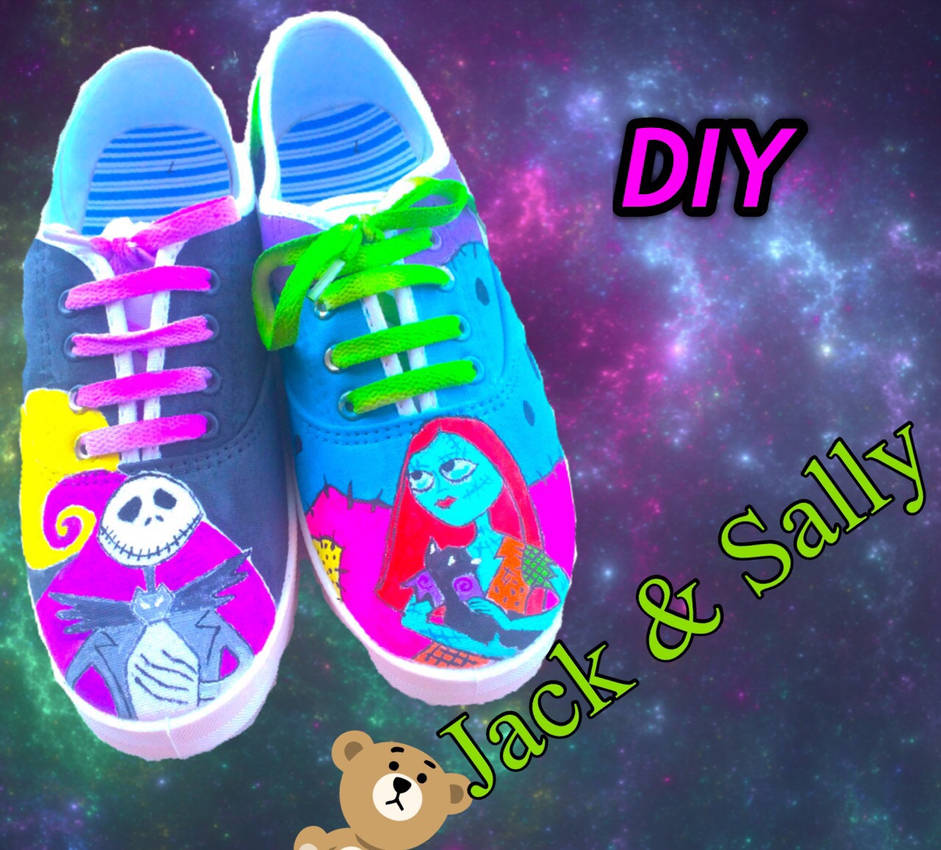 Nightmare Before Christmas Shoes Diy.Nightmare Before Christmas Jack And Sally By Sirenkashoes On