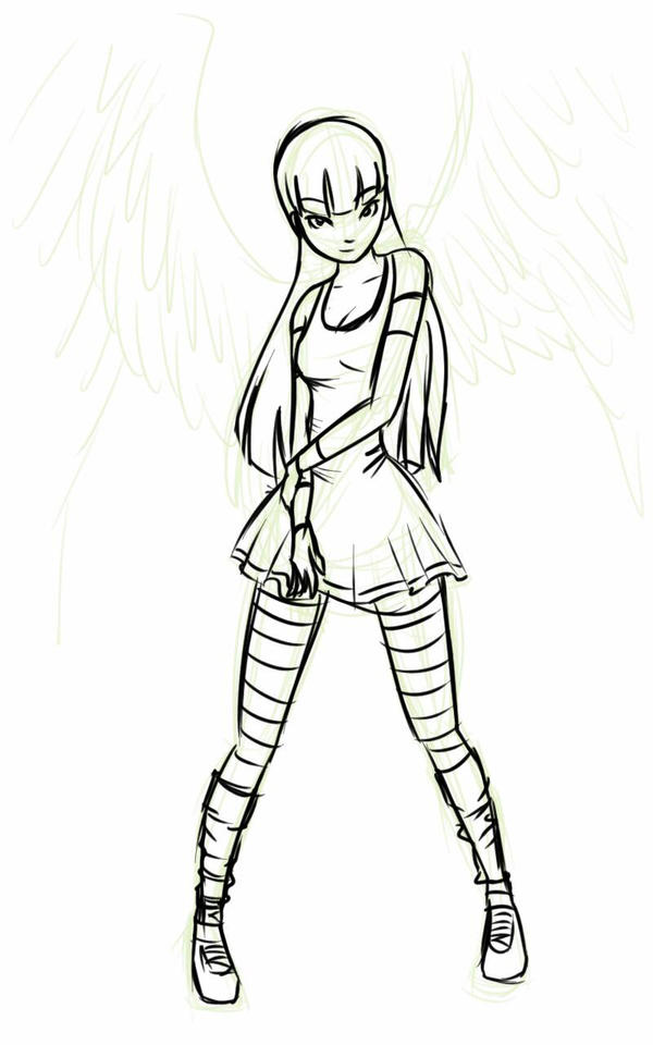 boceto angel by MeCra