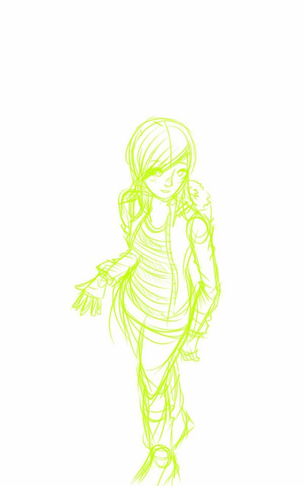 girl sketch by MeCra