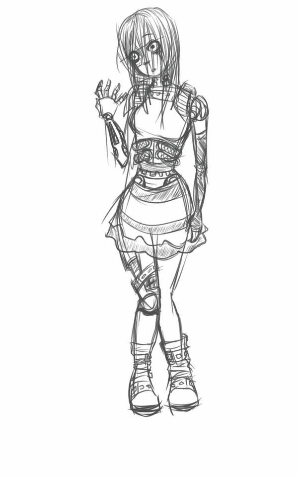 robot girl  by MeCra