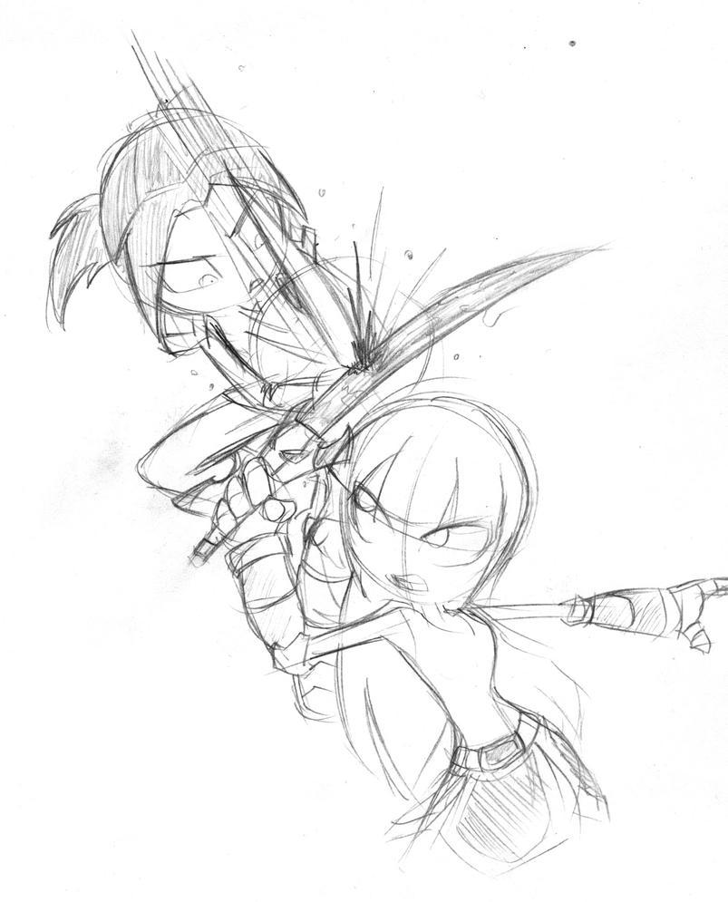 Sadako vs Alan by MeCra