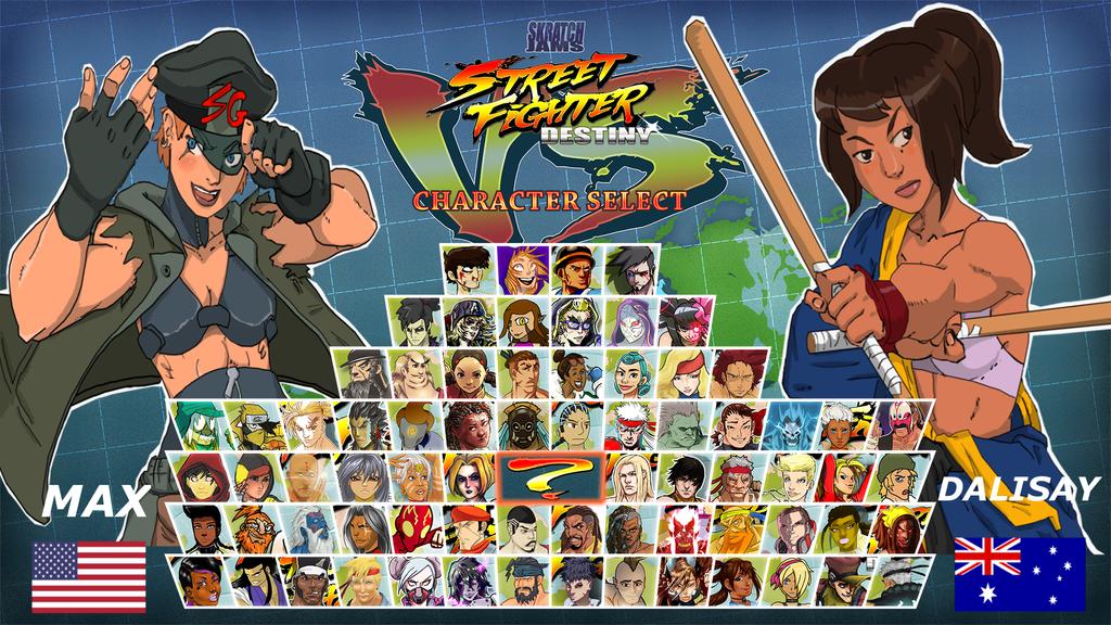 Streetfighter: Destiny character select screen by JSRT