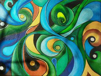 Abstract Acrylics by sarararon