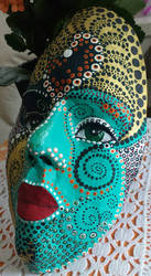 Paper Clay Mask Turqoise Side