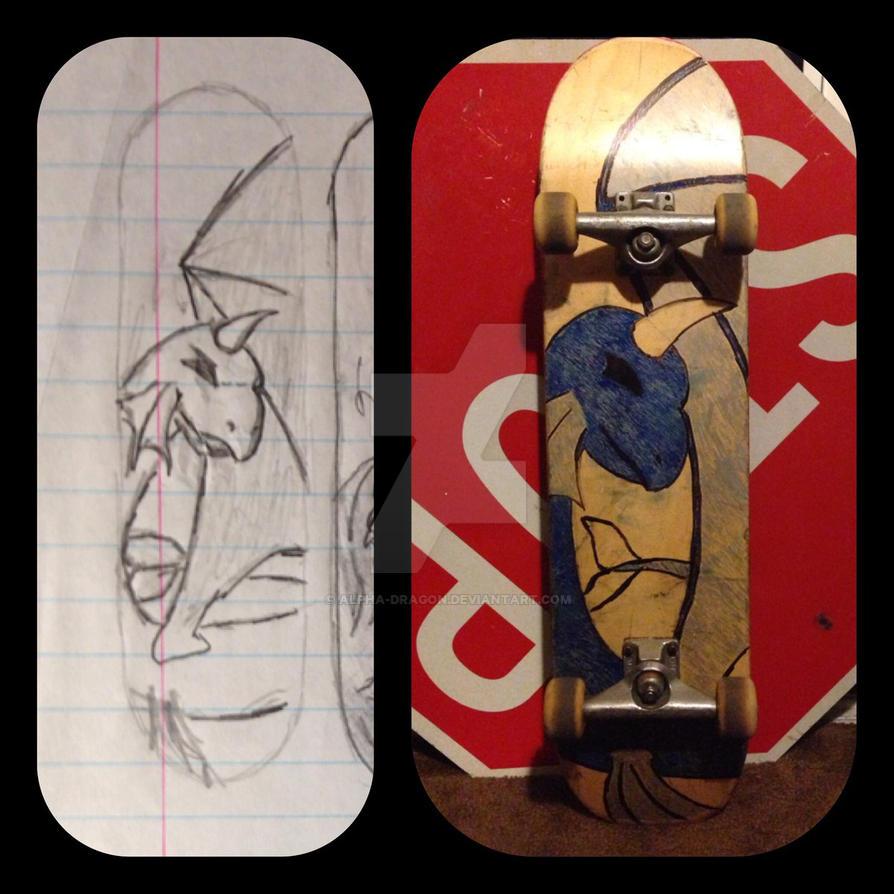 Dragons Skate Deck by alpha-dragon