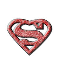 Super man tattoo in stone