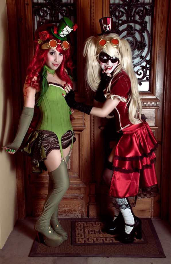 Harley Quinn and Poison Ivy - Steampunk/Burlesque by Candustark