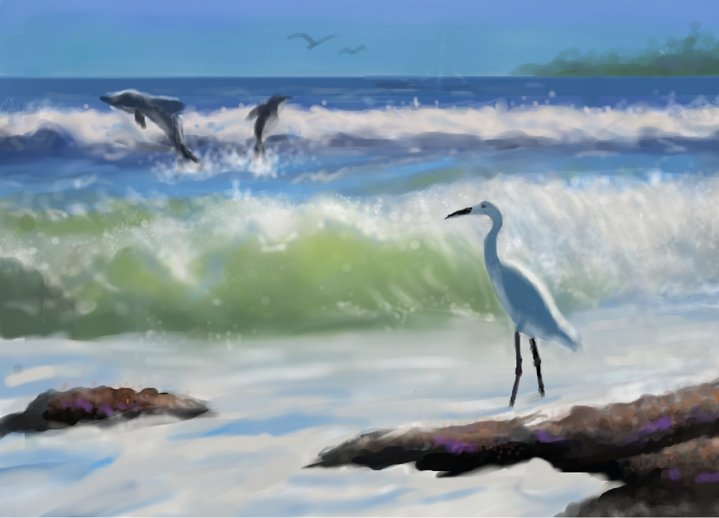Ocean Scene by bluemoon2017