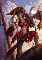 Artgerm - Pirate Pepper Final by sorali04