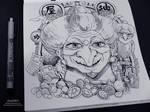 Ghibli Doodle Art - Yubaba Doodle 2