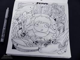 Ghibli Doodle Art -  Ponyo Doodle 6 by sorali04