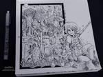 Ghibli Doodle Art - Nausicaa Doodle 8