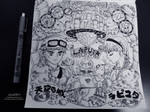 Ghibli Doodle Art - Laputa Castle in the Doodle 11 by sorali04