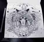Ghibli Doodle Art -Princess Mononoke Doodle 15