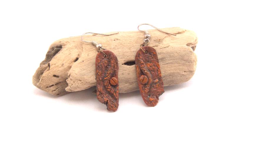 Rust Dragon Eye Earrings by Gardi89