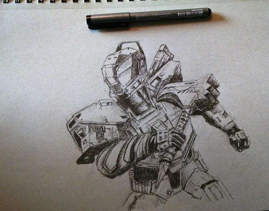 Titan sketch by Celleno