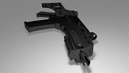 G36C ray new by LowPolyCount