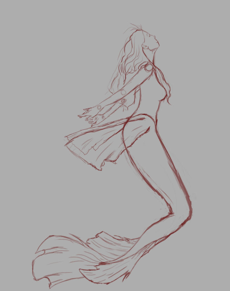 Mermaid Sketch by alsartspot