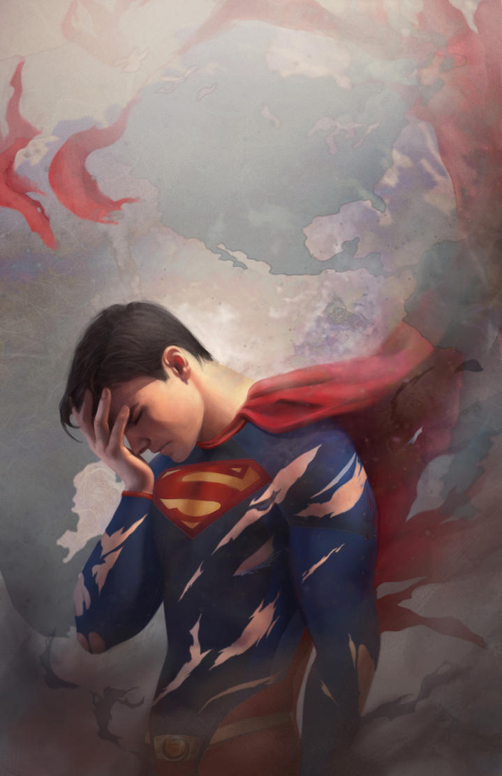 Tired Superman by FionaMeng