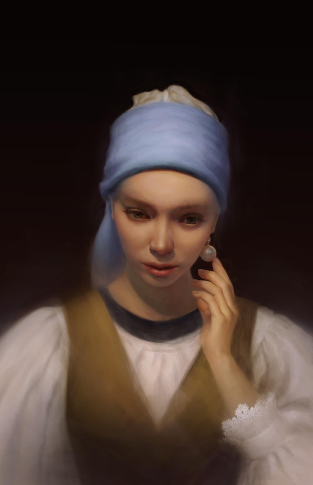 girl a pearl earring by fio ng on girl a pearl earring by fio ng