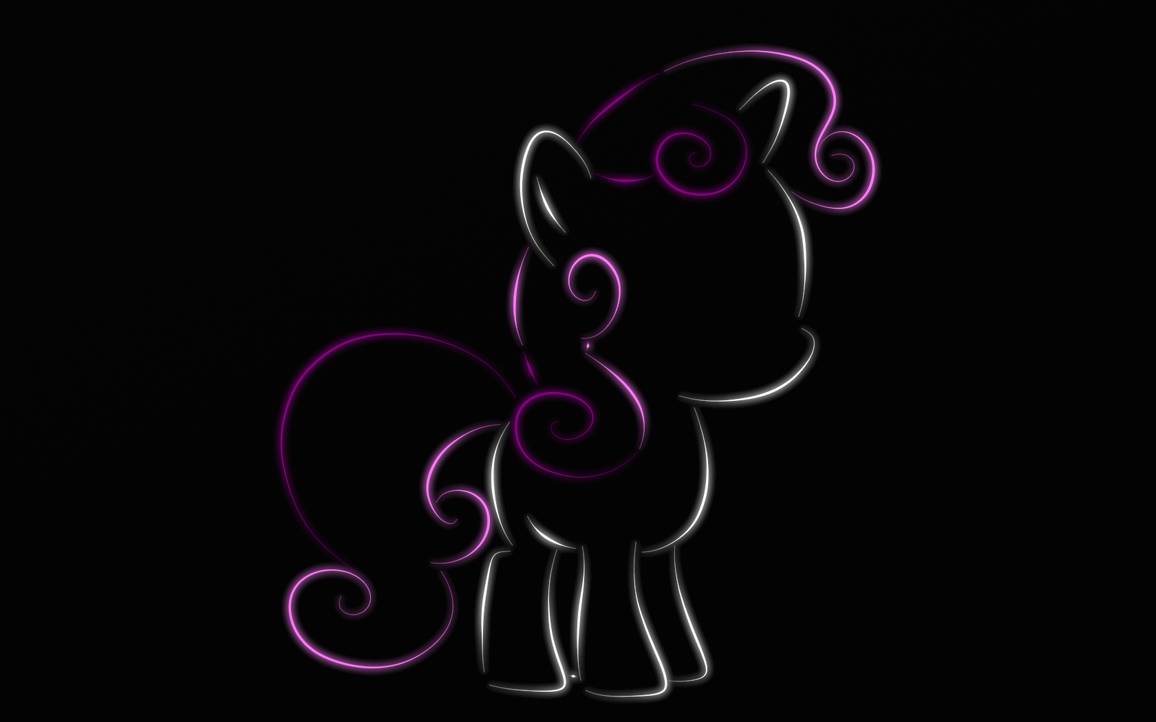 Sweetie Belle - neon by WictimCZ