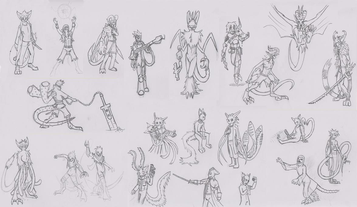 Mass Sketch Dump 02 by Se05239