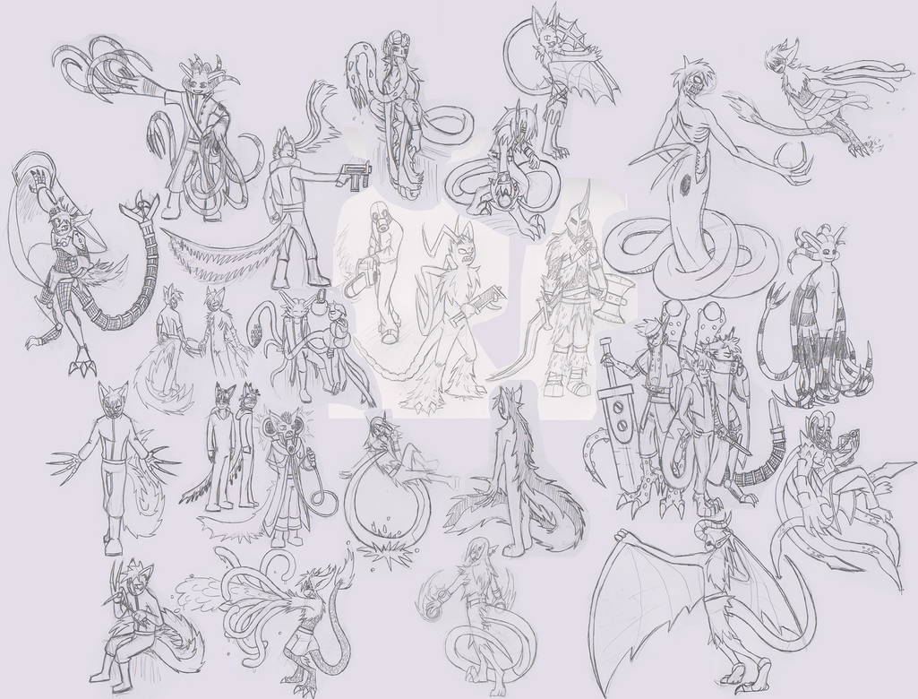 Mass Sketch Dump 03 by Se05239