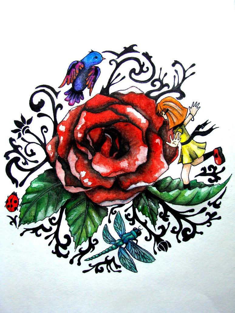 Wolf Tattoo Design by ~Fraxuur