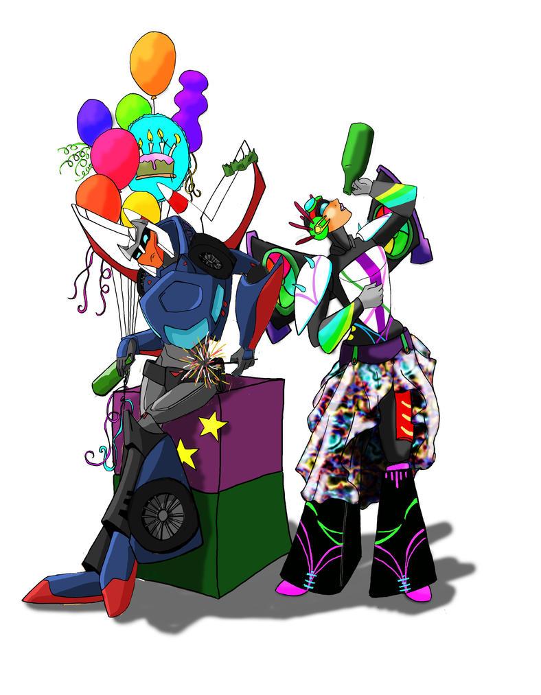 cybertronians  birthdayparty by kalascee