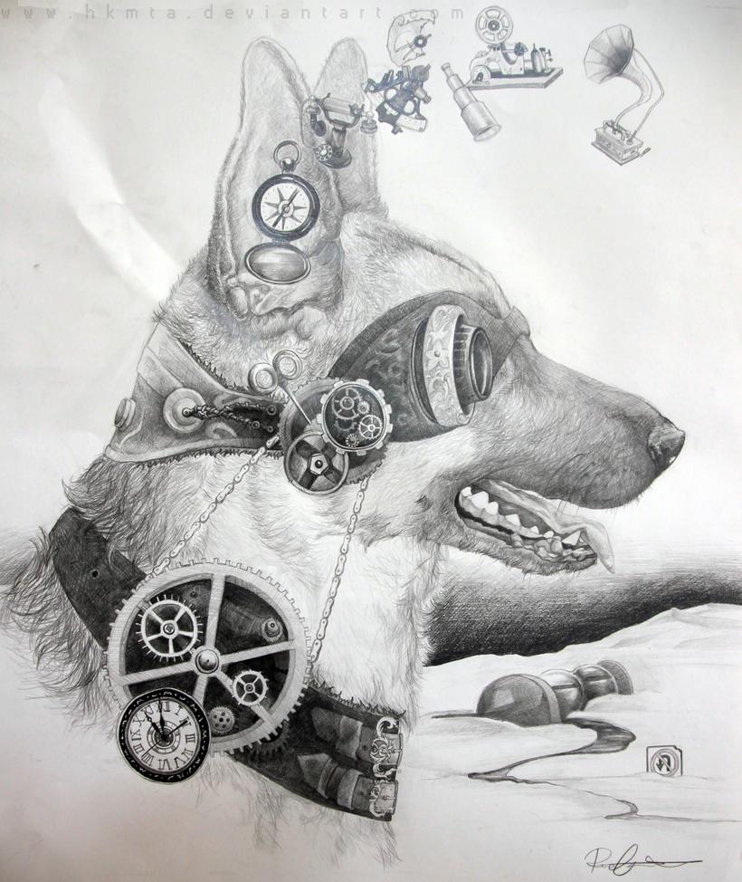 mechanical dog by hkmta on deviantart