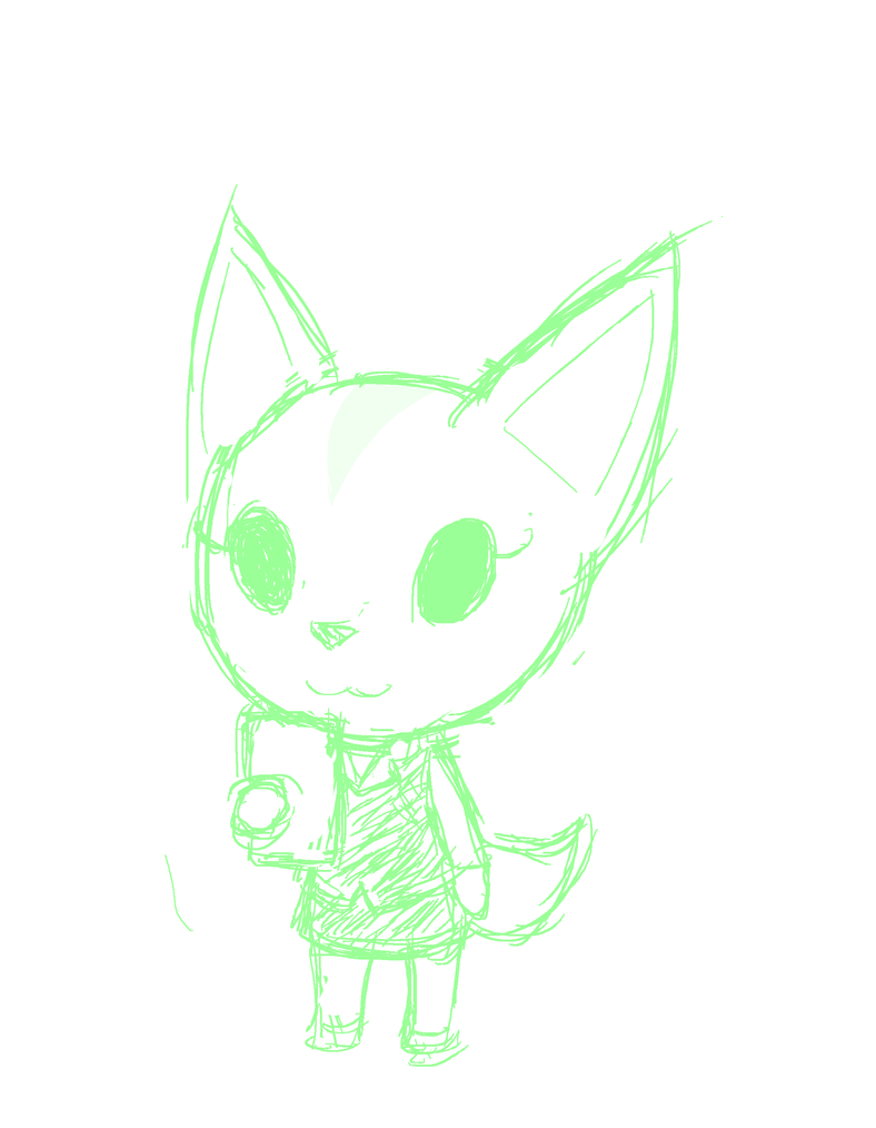 Random Sketch 250: Fenneko by BigRinth