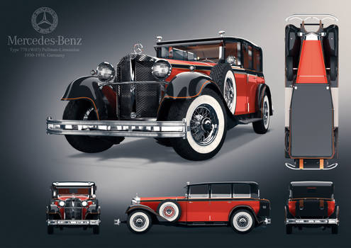 Mercedes-Benz 770 (W07) Pullman-Limousine Poster