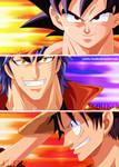 Goku - Toriko - Luffy