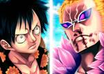 One Piece 781: Luffy vs DoFlamingo by Adriano-Arts