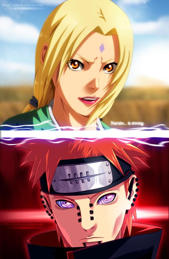 Tsunade vs Pain [collab] by uchiha-itasuke