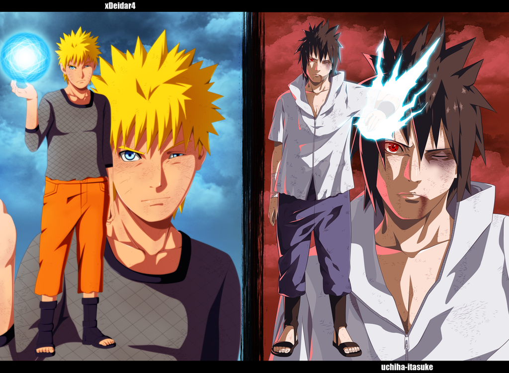Naruto vs sasuke collab by adriano arts on deviantart - Naruto as sasuke ...
