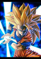Goku Saiyajin 3 by Adriano-Arts