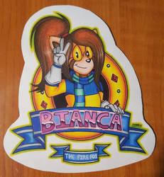Bianca the Firefox (badge example)