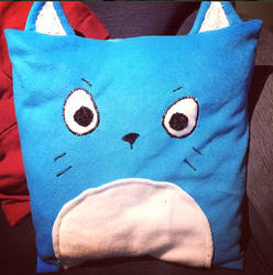 Happy Cushion by emoPANDAattack