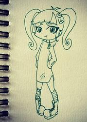 Chibi girl by emoPANDAattack
