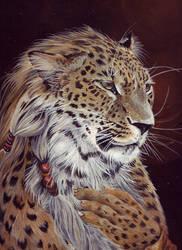Leopard-portrait. by asemo