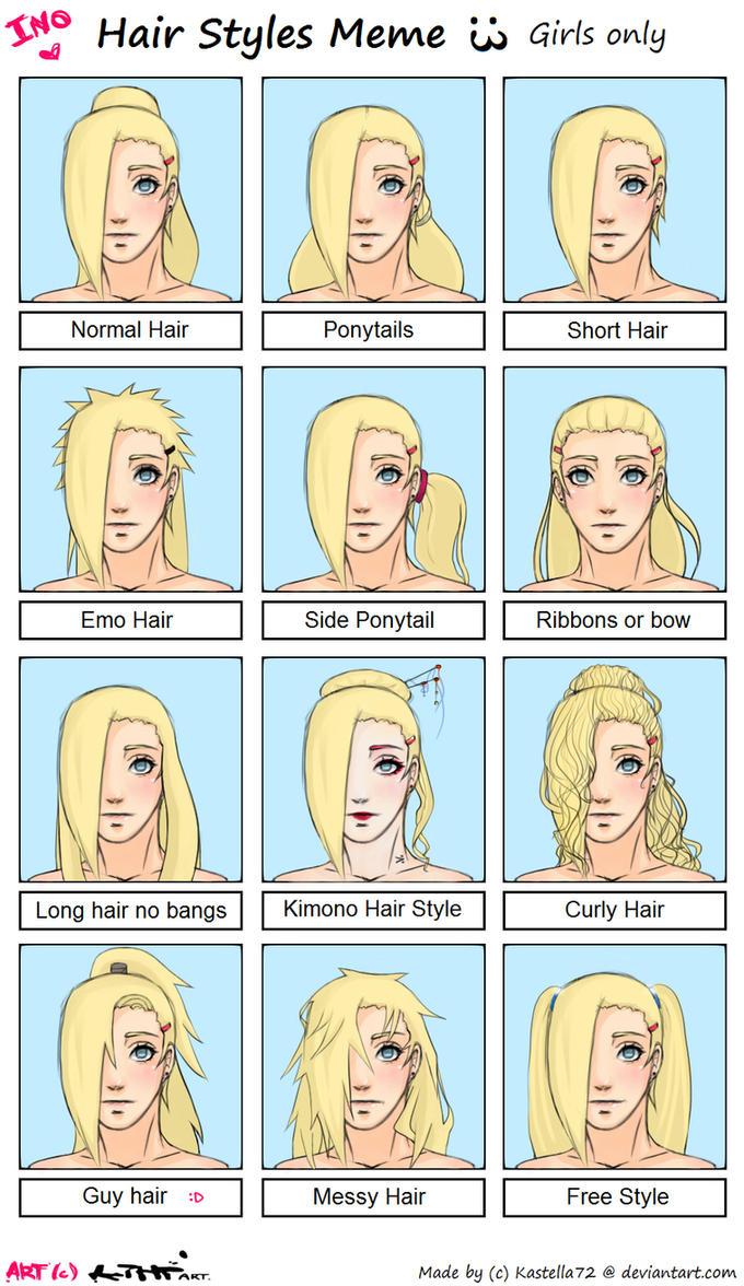Yamanaka Ino Hairstyle Meme By Kihiart On Deviantart