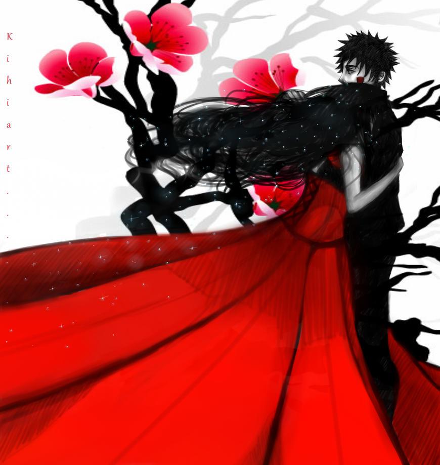 KibaHina. Metamorphosis in red.w by Kihiart