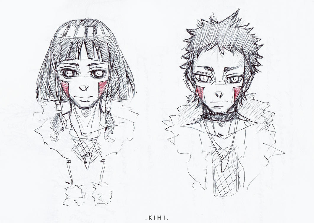 KibaHinas children .sketch. by Kihiart
